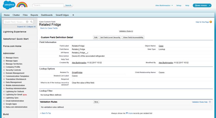 Salesforce Case Custom Field