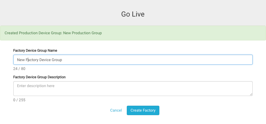 Go Live: select your fixture device group