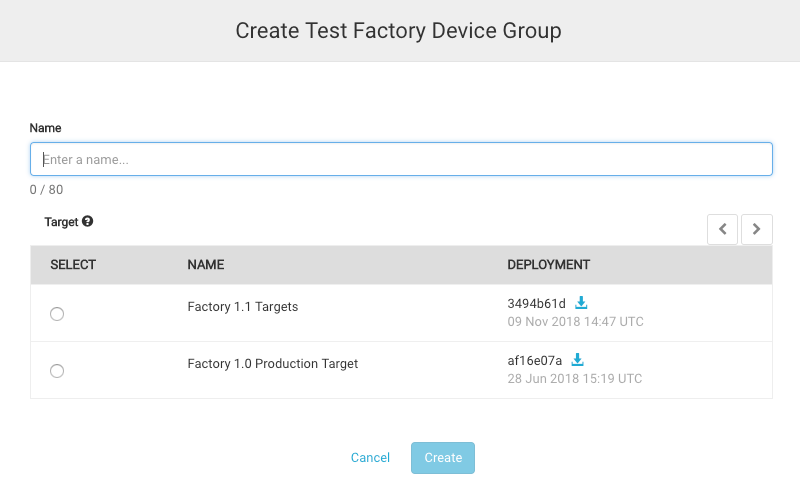 Creating a Test Factory Device group