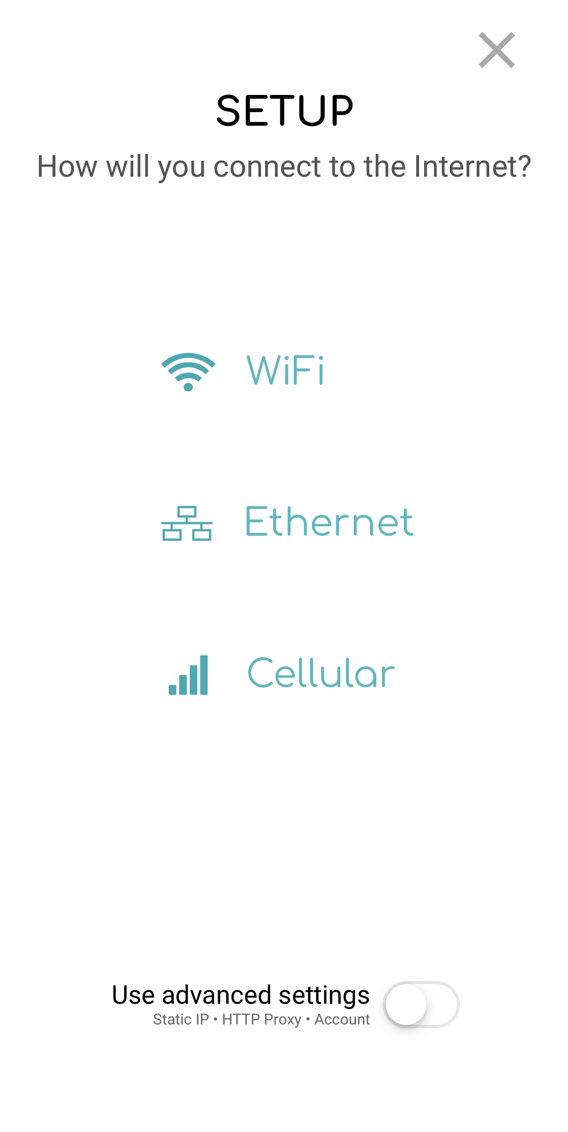 Select WiFi to activate a wireless device