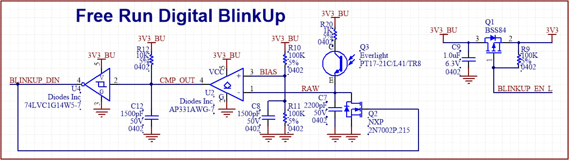 Design Hardware With The Imp005 Dev Center Circuit Led Flasher Universal 3v Circuits Designed By Blinkup Ramp Adc