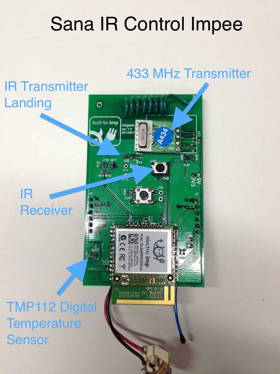 Sana Dev Center Infrared Transmitter Circuit Power Supply And Enclosure